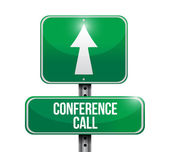 Conference call road sign illustration design — Stock Photo