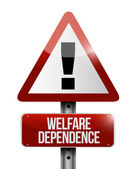 Welfare dependency road sign illustration design — Stock Photo
