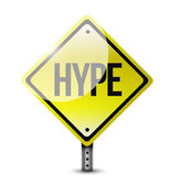 Hype warning road sign illustration design — Stok fotoğraf