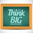 Think big message illustration design graphic. — Stockfoto