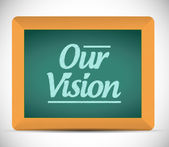Our vision message illustration design graphic. — Стоковое фото