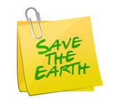 Save the earth post illustration design — Stock Photo