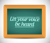Let your voice be heard message illustration — Stock Photo