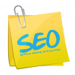Seo search engine optimization post illustration — Stock Photo
