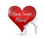Home sweet home heart illustration design — Stock Photo