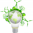 Lightbulb eco globe illustration design — Stock Photo