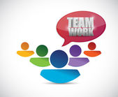 Teamwork people illustration design — Stock Photo