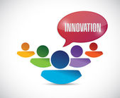 Innovation team message illustration design — Stock Photo