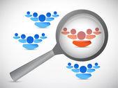 People selection illustration design — Stock Photo