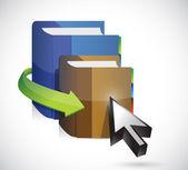 Book and cursor illustration design — Stock Photo