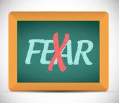 No more fear illustration design — Stock Photo