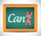 Cant to can illustration design — Stock Photo