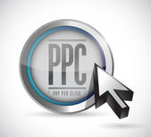 Pay per click button illustration design — Stock Photo