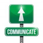 Communicate road sign illustration design — Stock Photo #34421741
