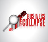 Business collapse sign illustration design — Stock Photo