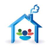 Family and home. illustration design — Stok fotoğraf