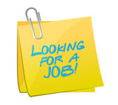 Looking for a job post illustration — Stock Photo