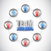 Team success diagram concept illustration design — Stock Photo