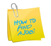 How to find a job post illustration design — Stock Photo