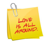 Love is all around post illustration design — Stock Photo