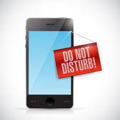 Phone with a do not disturb hanging sign — Stock Photo