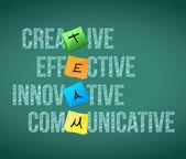 Conception en équipe éducation mots illustration — Photo