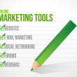 Online marketing tools check mark illustration — Stock Photo #34791817