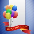 Happy birthday ribbon card illustration design — Stock Photo #34791505