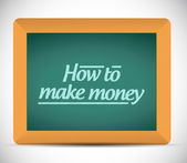 How to make money message on a blackboard. — Stock fotografie