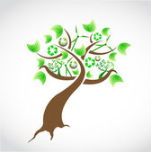 Natural concept tree illustration design — Stock Photo