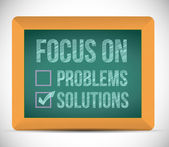 Focus on solutions check mark illustration — Stock Photo