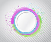 Ink circle drops illustration design — Stok fotoğraf