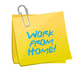Work from home post message illustration — Stock Photo