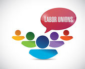 Labor union concept illustration design — Stock Photo