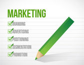 Marketing check mark illustration — Stockfoto