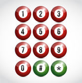 Dial numbers illustration design balls — Stock Photo