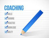 Coaching check mark list illustration design — Stock Photo