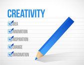 Projeto de ilustração criatividade marca de verificação lista — Fotografia Stock