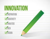 Innovatie vinkje lijstontwerp illustratie — Stockfoto