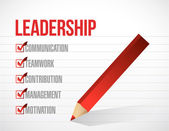 Leadership check mark list illustration design — Stock Photo