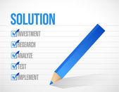 Solution check list illustration design — Stock Photo