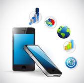 Business electronic concept illustration design — Stock Photo