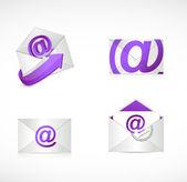 Purple email envelopes illustration design — Stock Photo