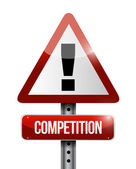 Competition warning road sign illustration — Stock Photo
