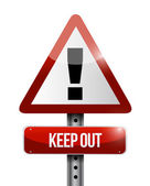 Keep out warning road sign illustration design — Stock Photo