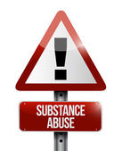 Substance abuse warning road sign illustration — Stock Photo