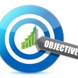 Target successful objective illustration design — Stockfoto #35362205