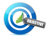 Target successful objective illustration design — Stok fotoğraf