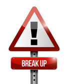 Break up warning road sign illustration design — Stock Photo