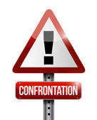 Confrontation warning road sign illustration — Stockfoto
